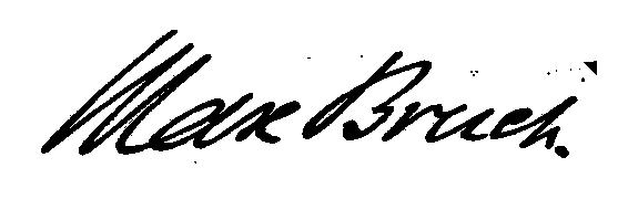 Signature Max Bruch