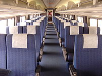 Inside the Silver Meteor train
