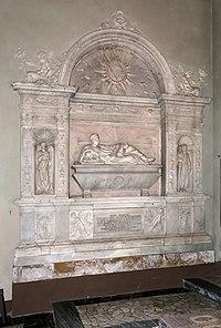 Silvio Cosini, sepolcro del beato Raffaele Maffei, 1522, con statue di stagio stagi 02.jpg
