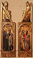 Simone dei crocifissi (attr.), sportelli con annunciazione e quattro santi, 1355-90 ca. 01.jpg
