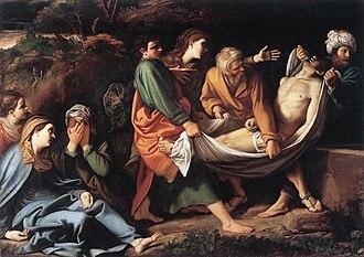 Sisto Badalocchio - The Entombment of Christ, Galleria Borghese, 1610