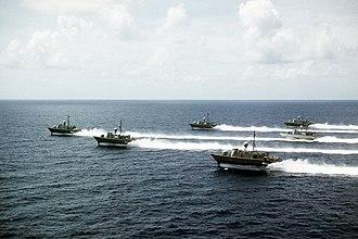 Pegasus-class hydrofoil - All six members of the Pegasus class of armed hydrofoils.