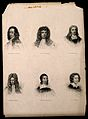 Six portraits of eminent seventeenth century men. Engraving. Wellcome V0006834.jpg