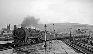 Skipton railway station - Thames-Clyde Express in 1961