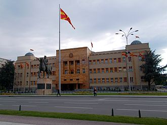 Assembly of North Macedonia - Parliament Building in Skopje
