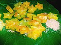 Sliced Indian Carambola Star fruit with Indian spices.jpg