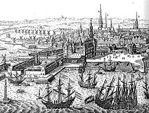 Christian IV's Arsenal - The Arsenal Dock at Slotsholmen