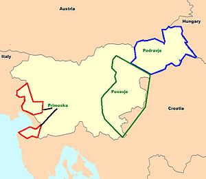 Slovenian wine - Slovenia's major wine regions