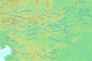 Liste der flüsse in slowenien