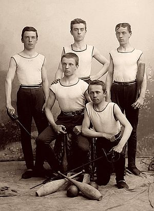Sokol - Members of the Sokol club in sports costumes, circa 1900  photographed by Šechtl and Voseček