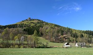 Rudawy Janowickie - Sokolik in Rudawy Janowickie view from Trzcińsko.