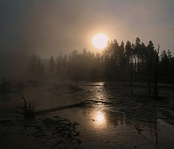 Solar coronae created by the steam getting out hot springs 2.jpg