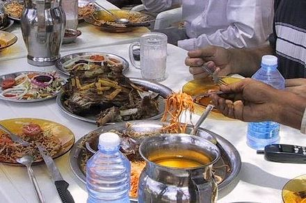 Various types of popular Somali dishes Somali food.jpg
