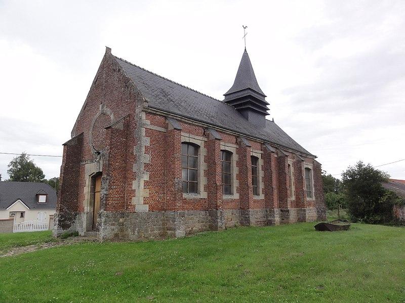 Sommette-Eaucourt (Aisne) église Sommette