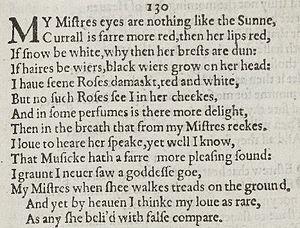 Sonnet 130 - Image: Sonnet 130 1609