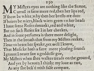 Sonnet 130 poem by William Shakespeare