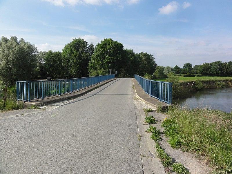 Sorbais (Aisne) pont sur l'Oise
