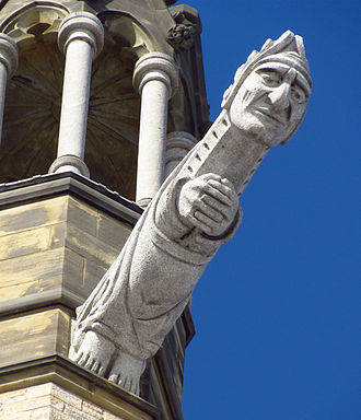 Peace Tower - One of four grotesques at the corners of the Peace Tower