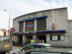 South Wimbledon tube station - The station entrance