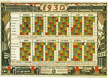 Calendario 1929.Soviet Calendar Wikipedia
