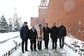 Soyuz TMA-07M crew and backup crew at Kremlin Wall.jpg