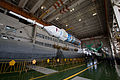 Soyuz TMA-11M rocket in the assembling facility (1).jpg