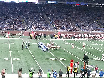 Traditional field goal formation with the long snapper in the center Special Teams.jpg