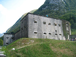 Battles of the Isonzo - Remains of Kluže, an Austro-Hungarian fortification between Bovec and Log pod Mangrtom