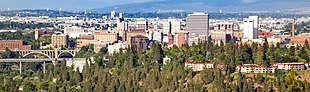 Downtown Spokane as seen from Palisades Park looking east in June 2007