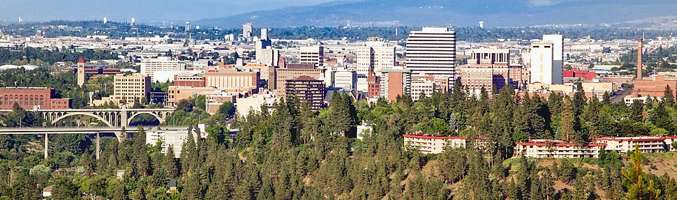 Downtown Spokane from Palisades Park