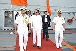 Sri Lankan President Maitripala Sirisena visits INS Vikramaditya at Colombo (03).jpg