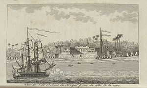 Capture of Senegal - The settlement of Saint-Louis in 1780