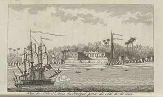 French conquest of Senegal - Saint-Louis in 1780