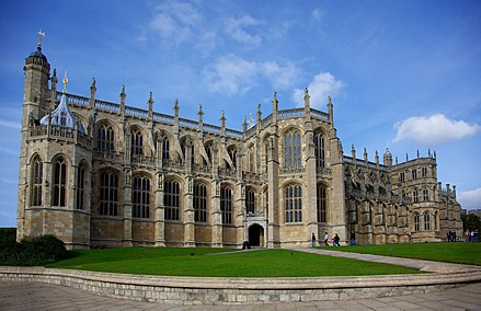 St George's Chapel, begun in 1475 by Edward IV St. Georges Chapel, Windsor Castle (2).jpg