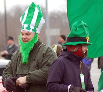 Symbolic ethnicity - Image: St. Patrick himself in Dublin, Ohio