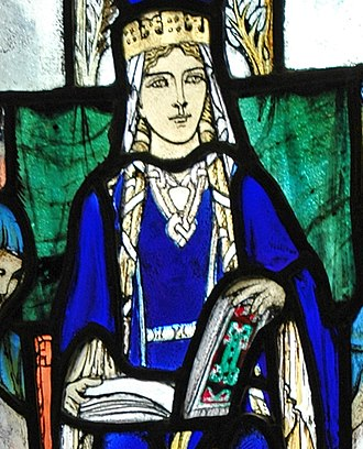 Saint Margaret of Scotland - Image of Saint Margaret in a window in Edinburgh