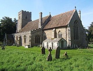 Shimpling village in United Kingdom