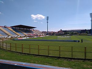 Stadium during the sunny day