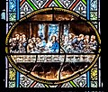 Staines glass window in the Church of Our Lady of the Assumption in Domme 07.jpg