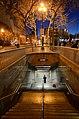 Stairway to Civic Center station, January 2014.jpg