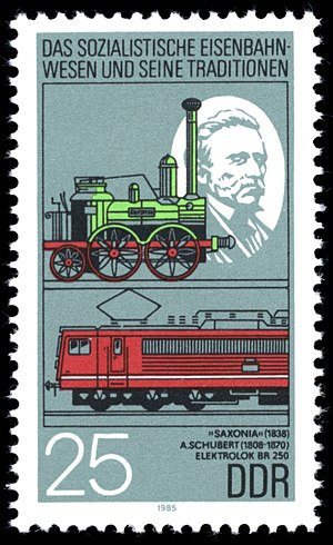 Saxonia (locomotive) - Stamp of the Saxonia