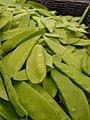 Starr-070730-7868-Pisum sativum var macrocarpum-snow peas-Foodland Pukalani-Maui (24864208526).jpg