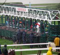 Starting Gate, Opening Day in the Rain Saratoga Racetrack NY 8400 (4854220456).jpg
