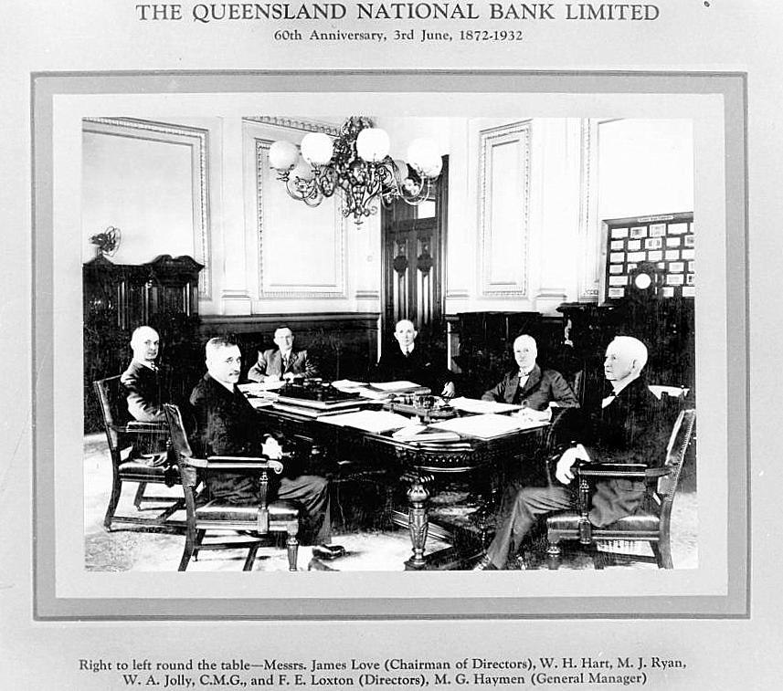 StateLibQld 1 90768 Board of Directors of the Queensland National Bank Limited, Brisbane, 1932