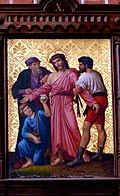 Station 10 Jesus is stripped of His garments, St. Nicholas Church in Elbl?g.JPG