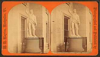 Ethan Allen (Mead) - Image: Statue of Ethan Allen, at State Capitol, Montpelier, Vt, by H. E. Slayton