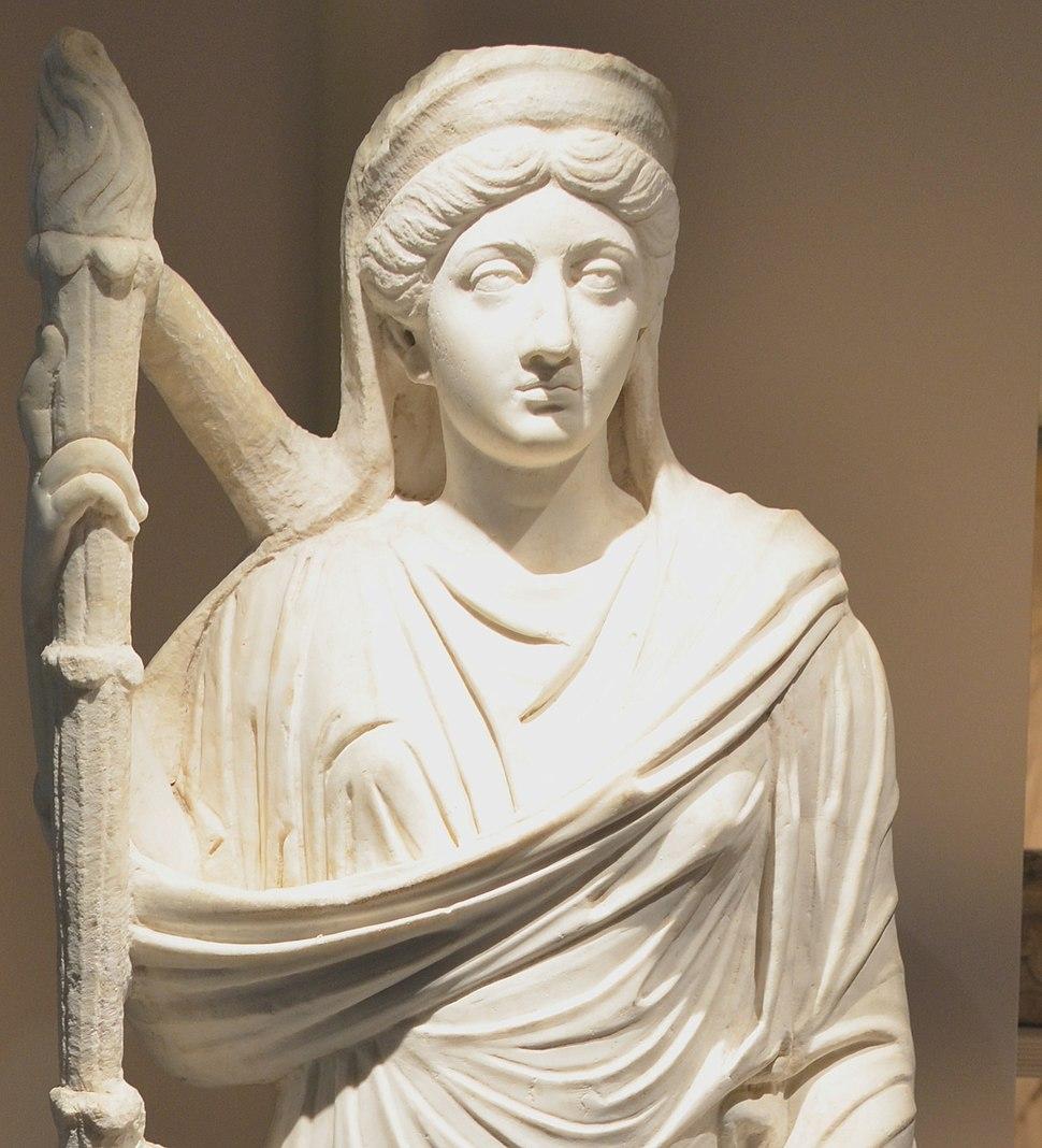 Statue of Lucilla detail