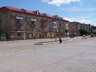 Stebnyk City in Lviv Oblast, Ukraine