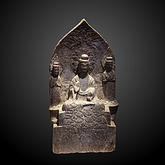 Stele with buddhic triad-EO 2064