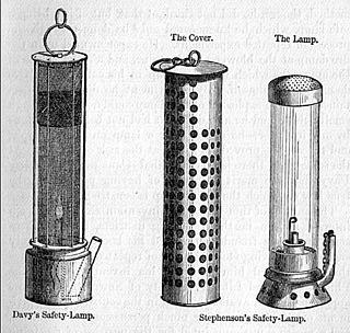 Geordie lamp A miners lamp invented by George Stephenson in 1815